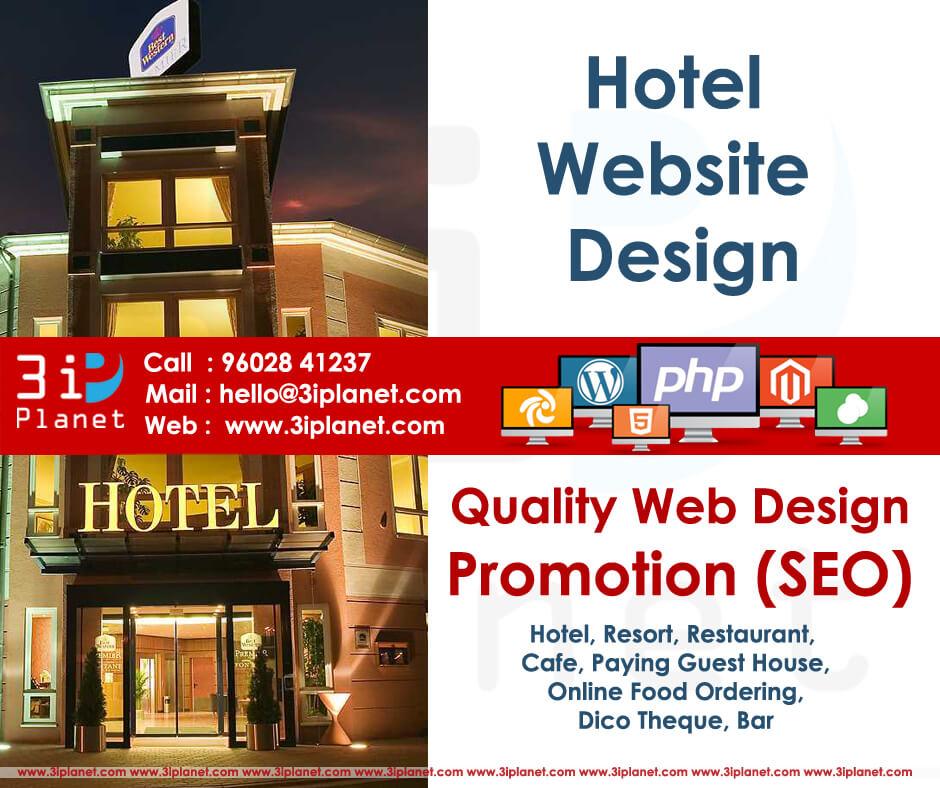 Hotel website design for Design hotel website