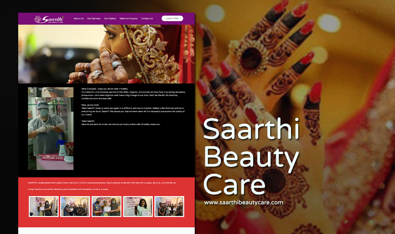 Beauty Care Beauty Salon Website Design Company
