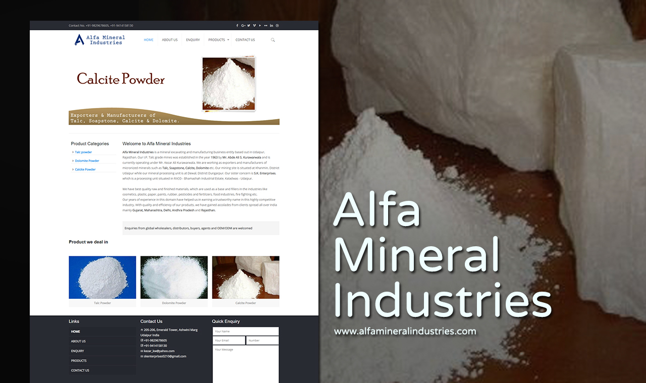 Mineral Industries Website Design Company
