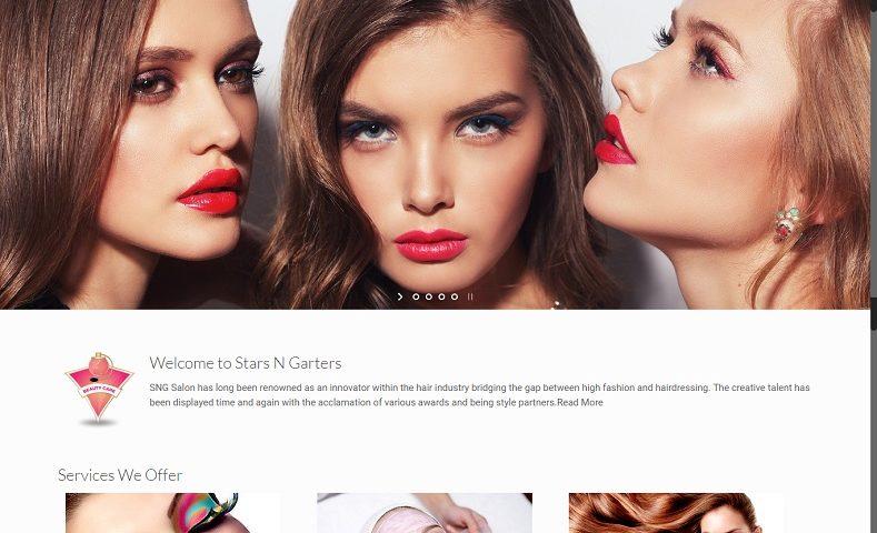Beauty Parlous Salons Website Design Company