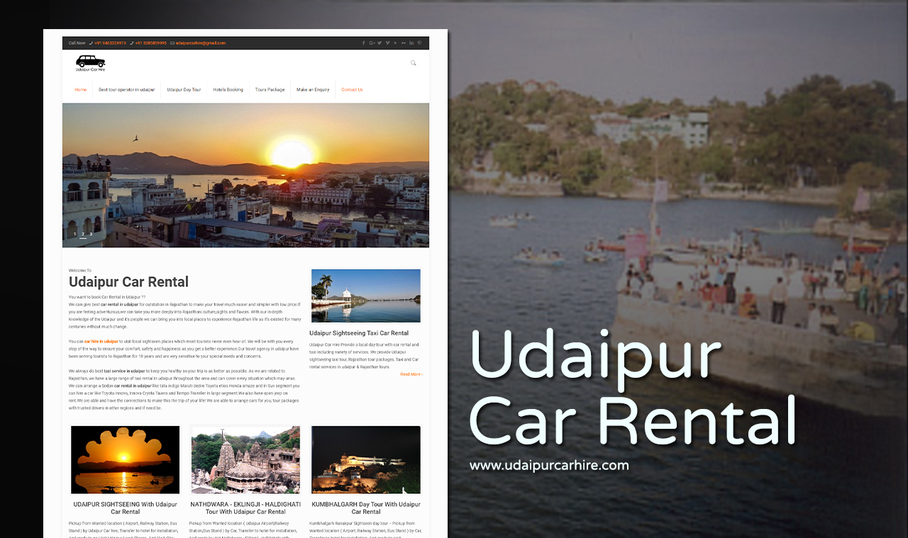 Car Rental Website Design Company
