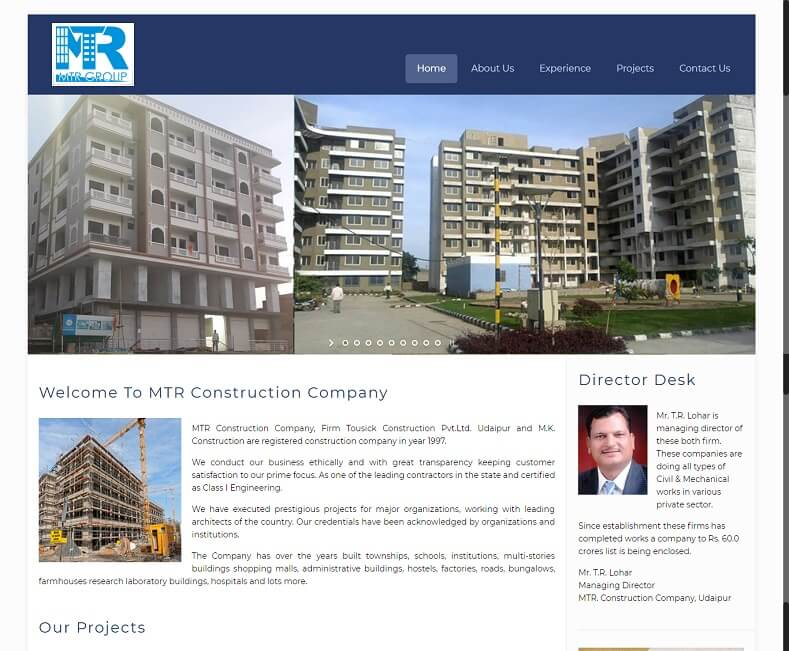 Construction Company Website Design Company