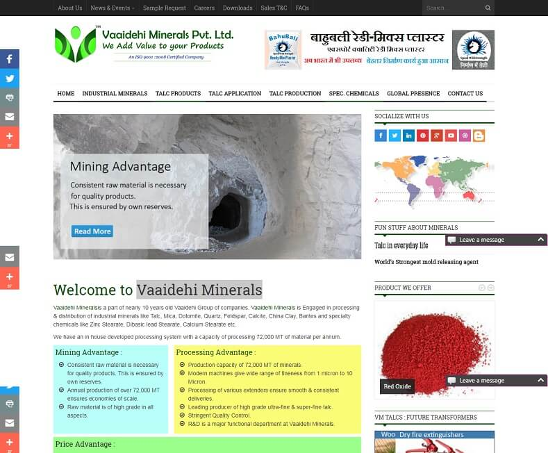 Minerals Website Design Company