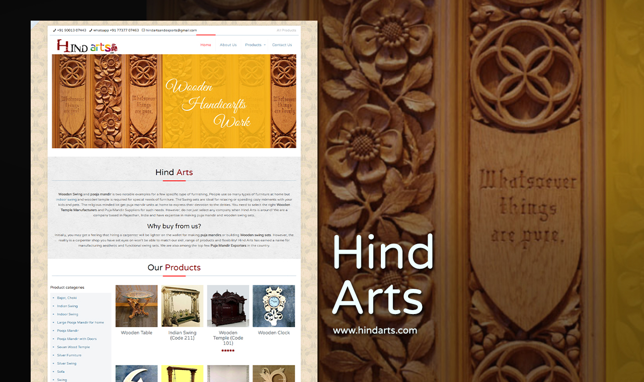 Art and Craft Website Design Company