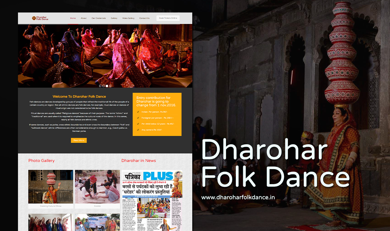 Folk Dance Show Website Design Company
