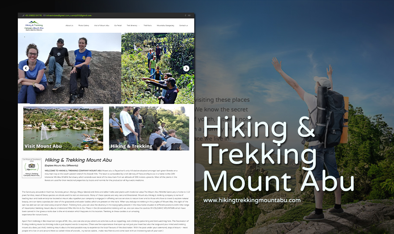 Hiking Trekking Company Website Design Company