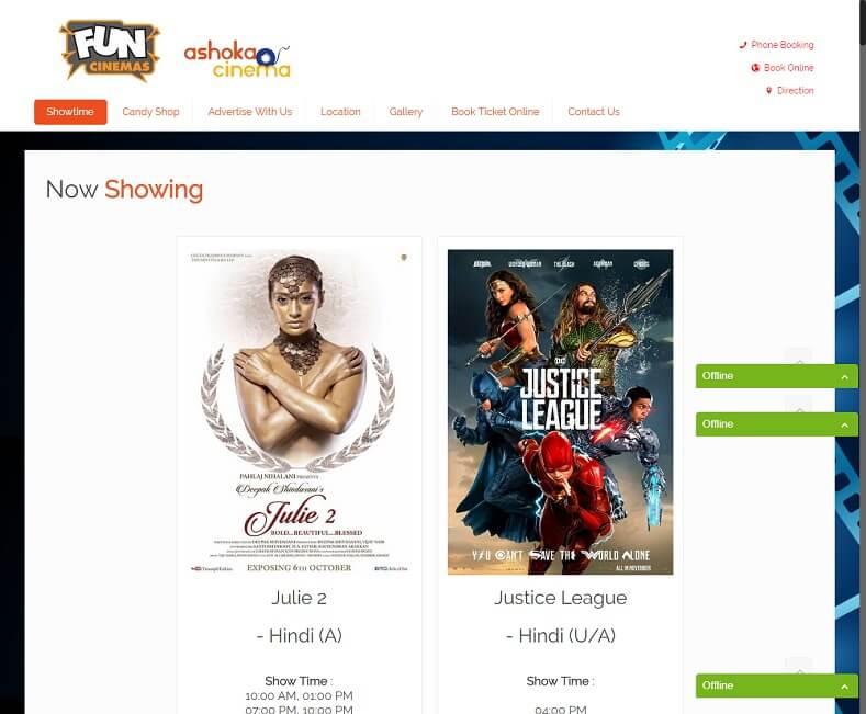 Cinema Website Design Company