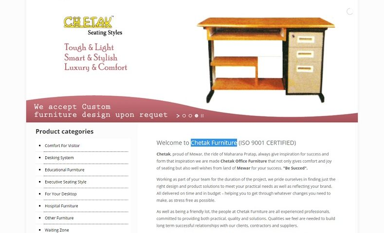 Furniture Website Design Company