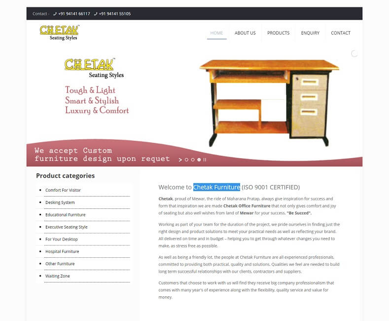 Furniture Website Design Company