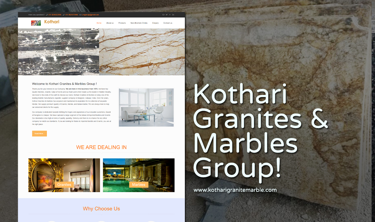 Granite Marble Website Design Company
