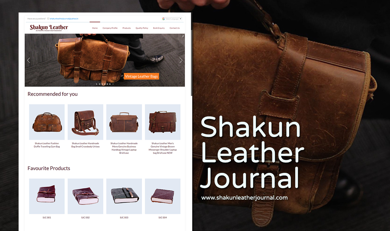 Leather Journal Website Design Company