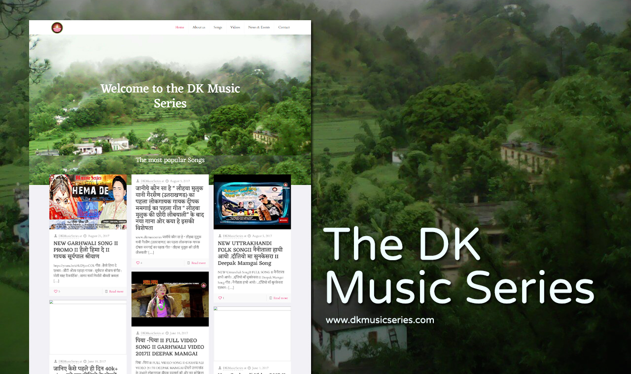 Music Singer Website Design Company