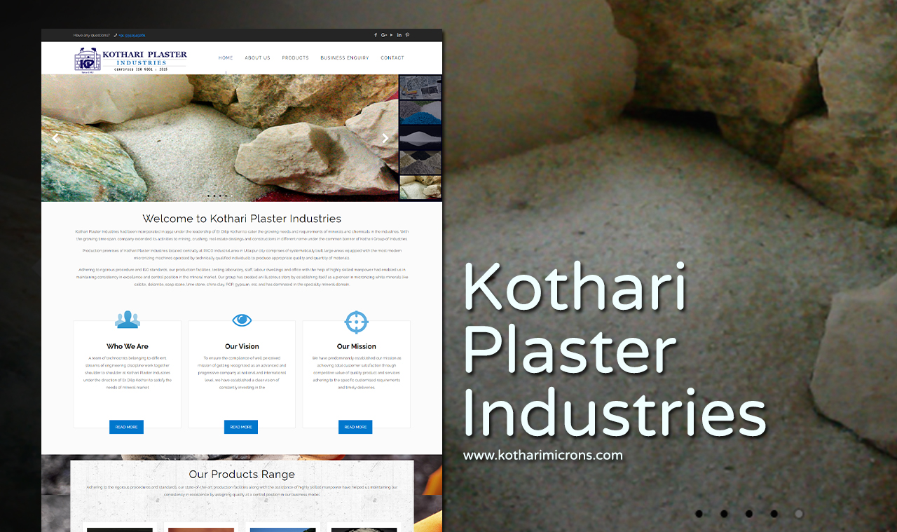 Plaster Industries Website Design Company