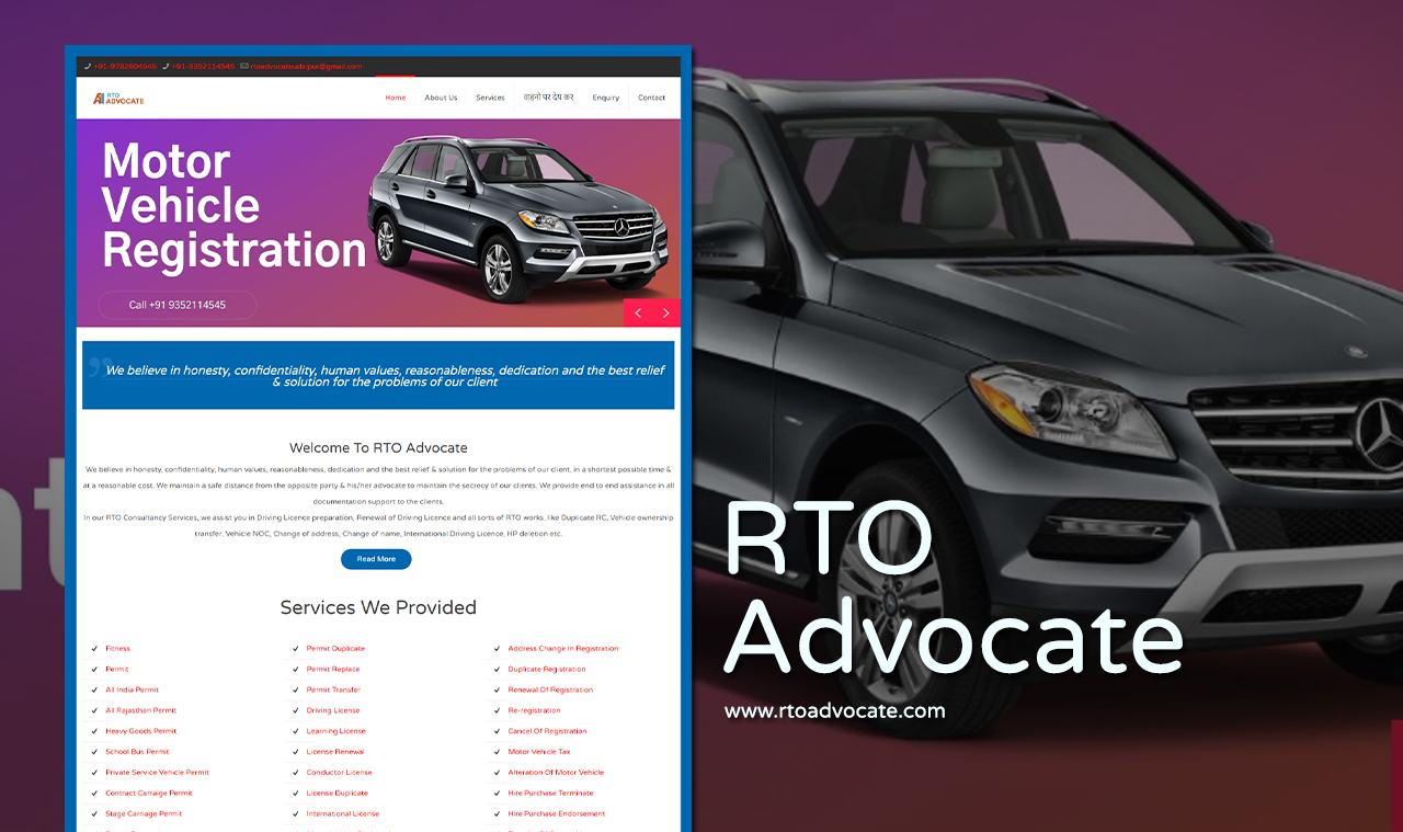 RTO Advocate Website Design Company