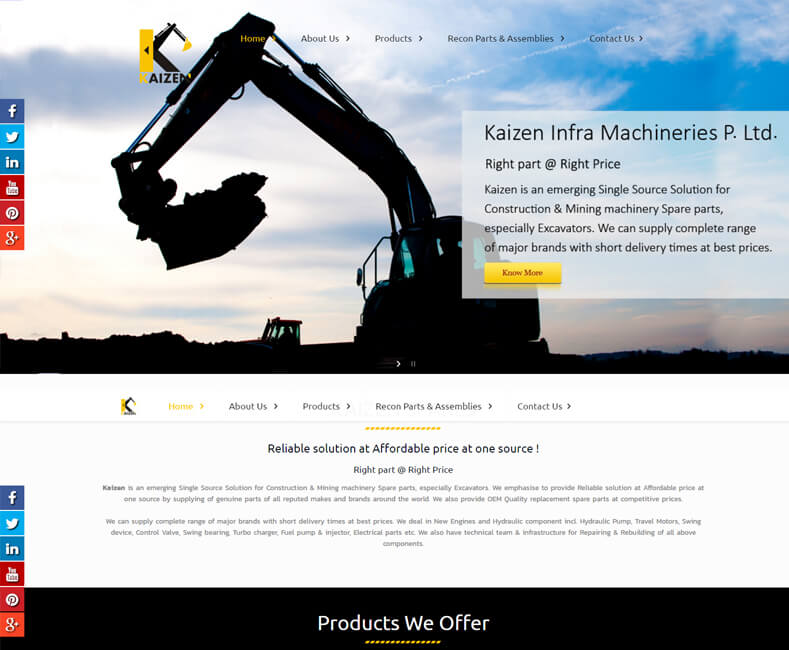 Best industrial web design company udaipur rajasthan india for Industrial design company