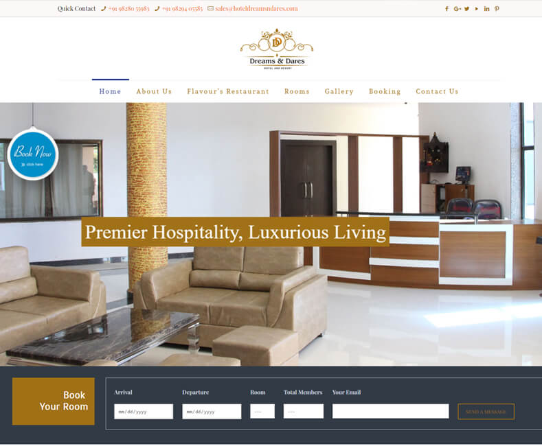 Best Resort Website Design Company