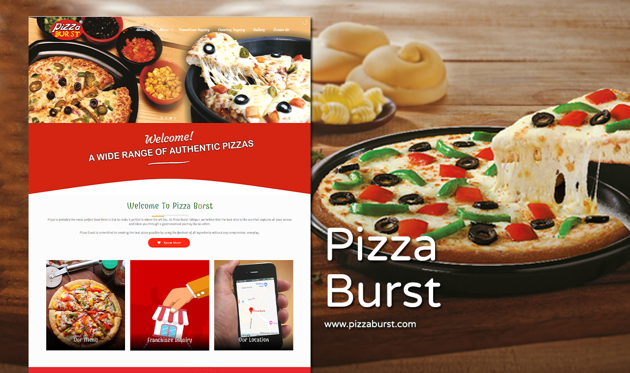Pizza restaurant website design company udaipur rajasthan