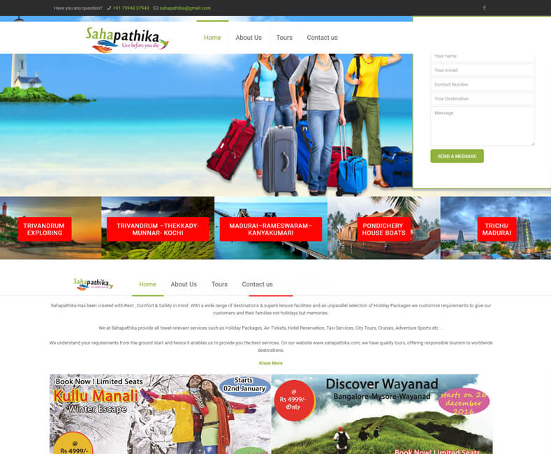 Travel Website Design Company