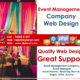Event Management Company Website Design
