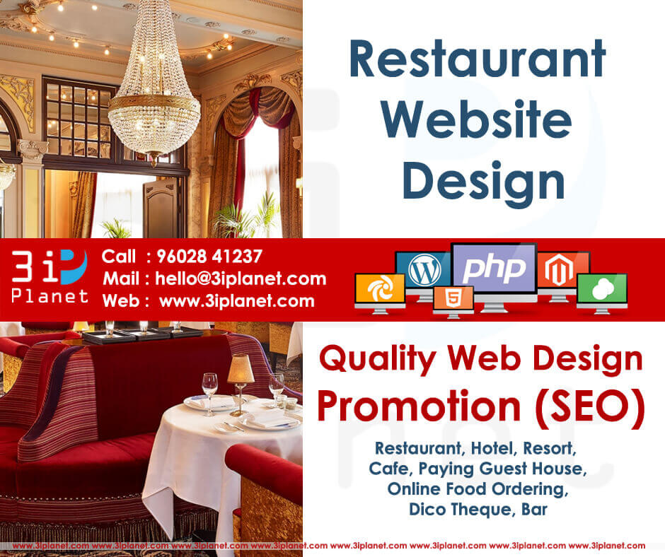 Restaurant website design services