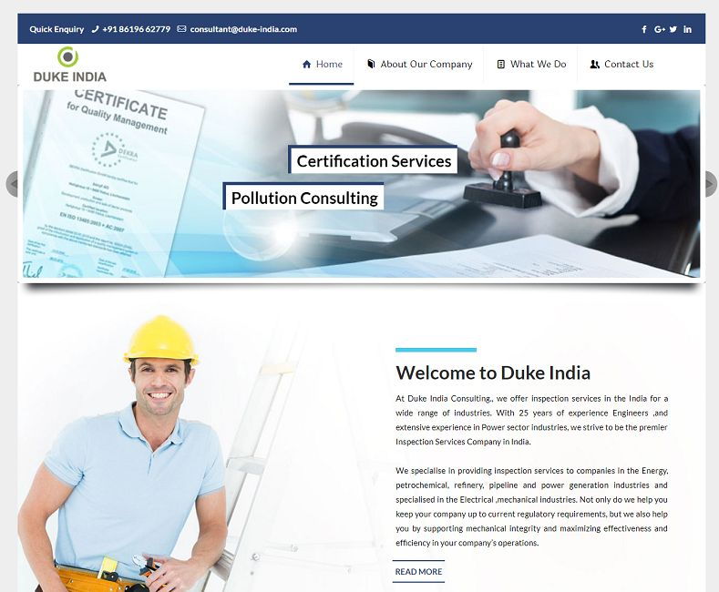 Industrial Company Website Design Company