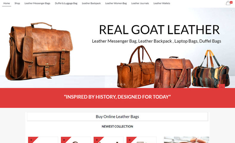 Leather Bags Website Design Company