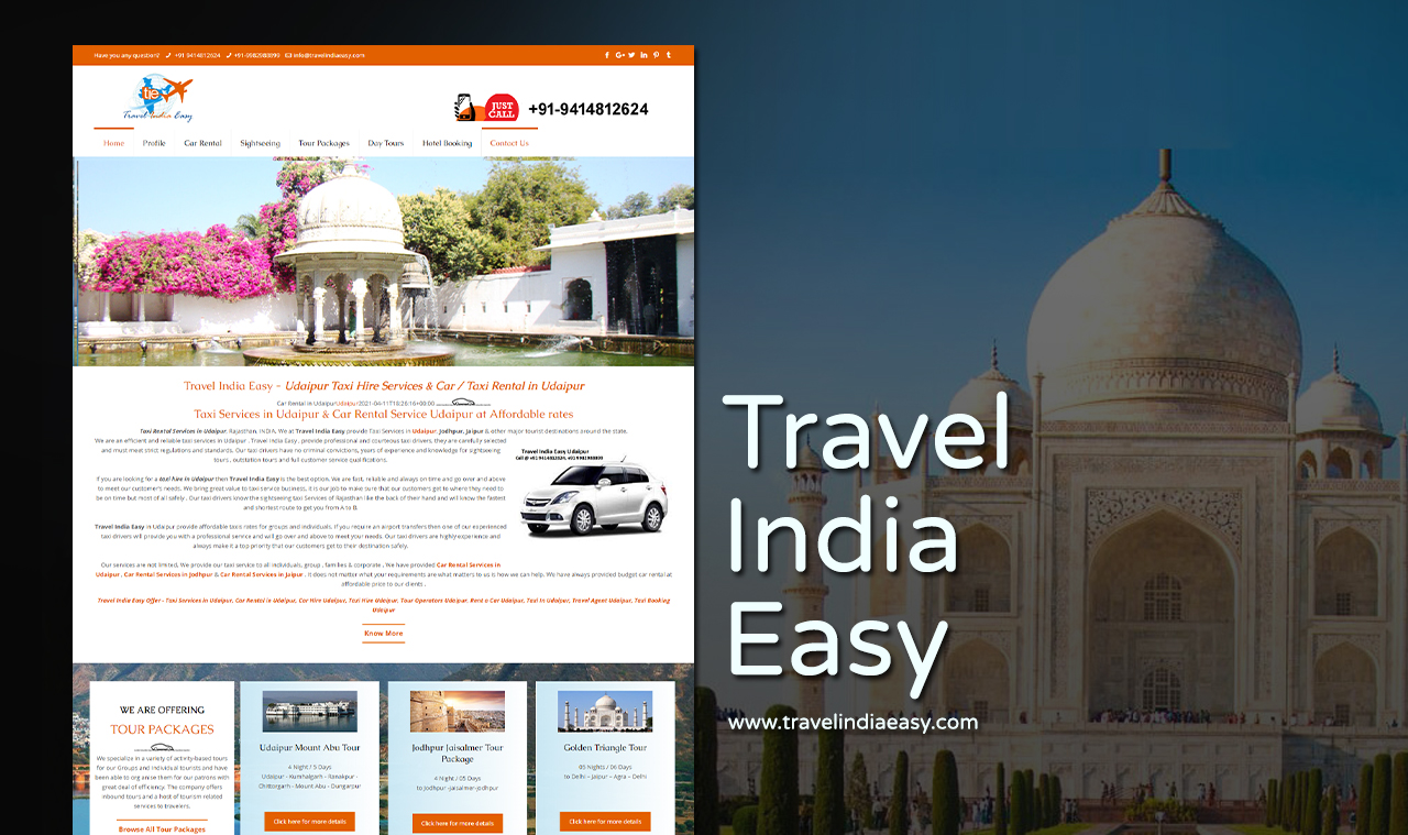 Travel Company Website Design Company