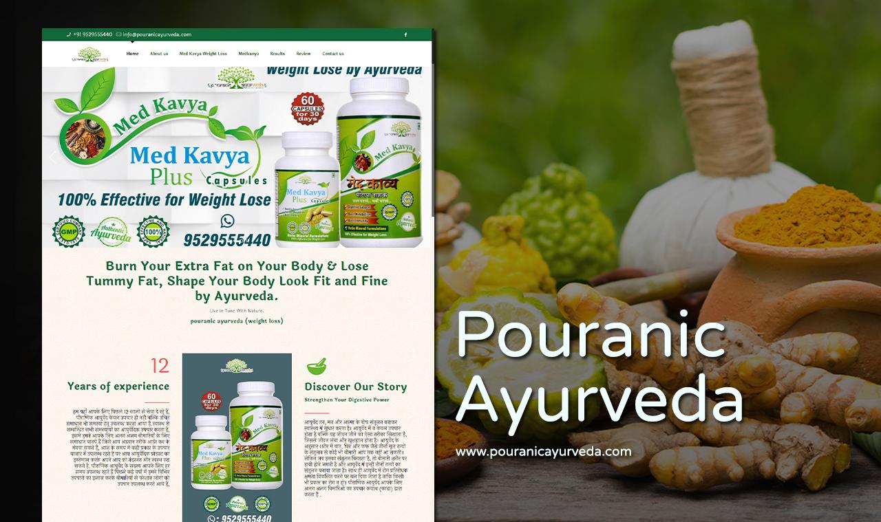Ayurveda Product Website Design Company