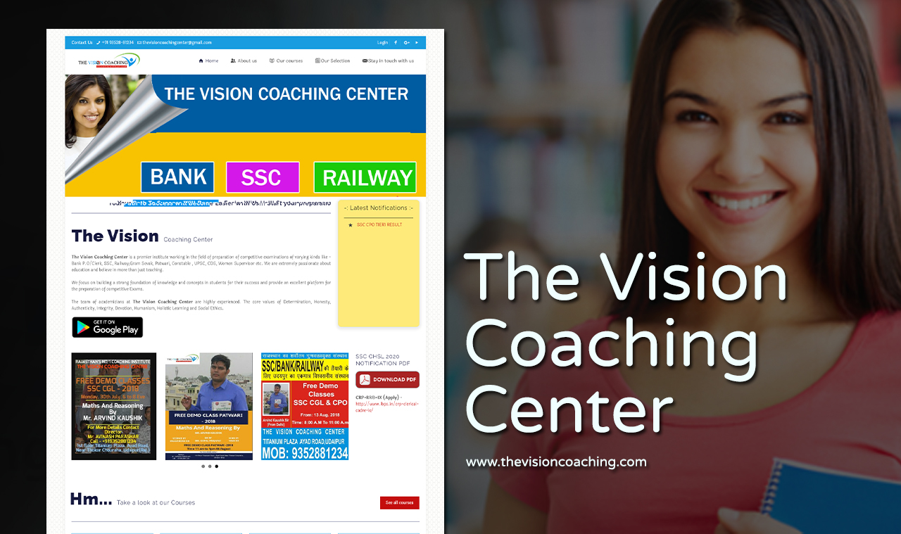 Best Coaching Institute Website Design Company