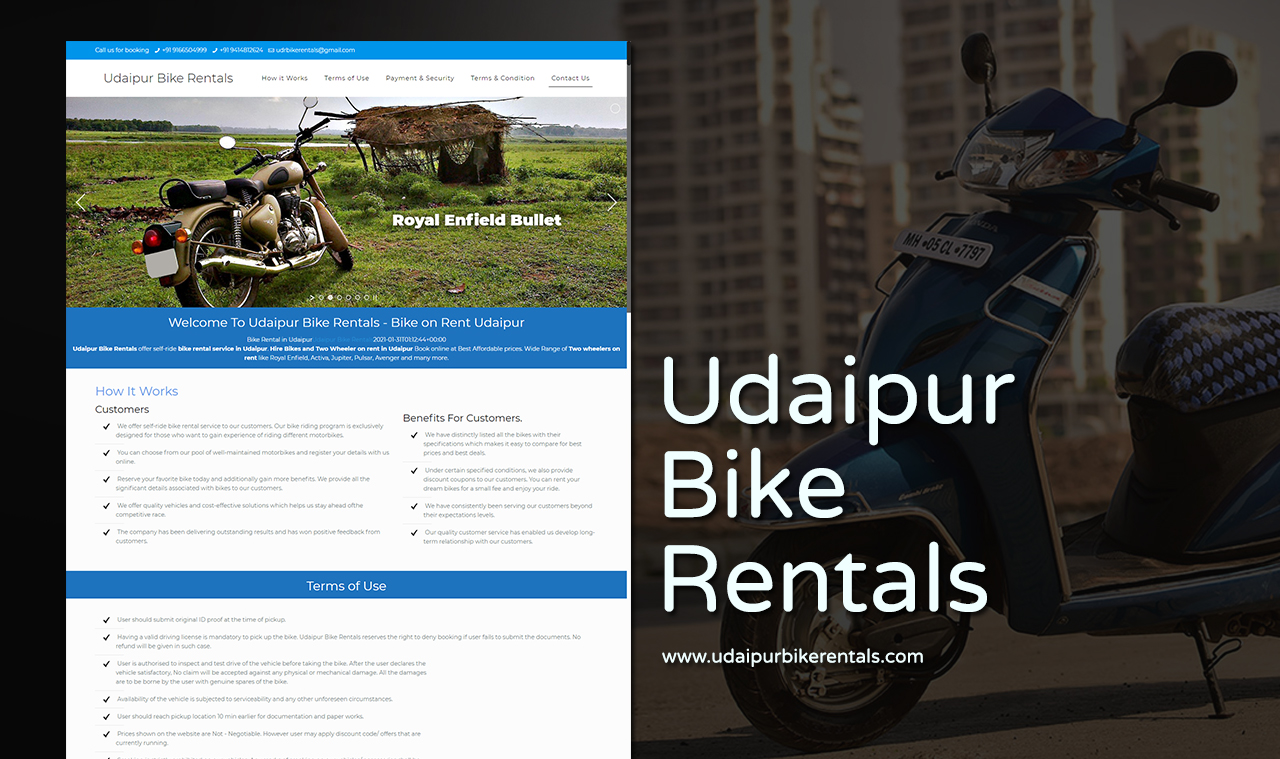 Bike Rental Website Design Company
