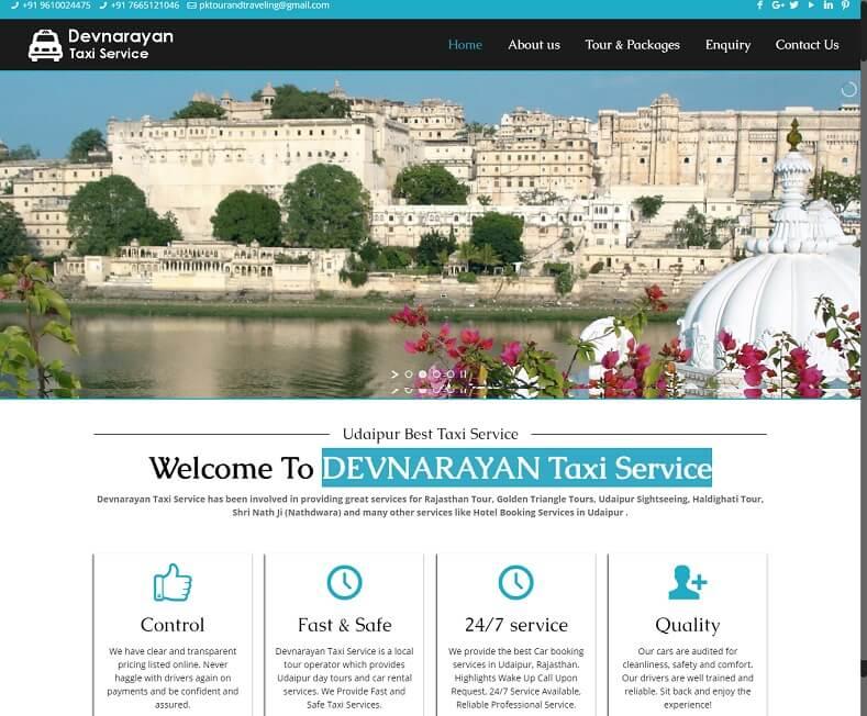 Cab Booking Website Design