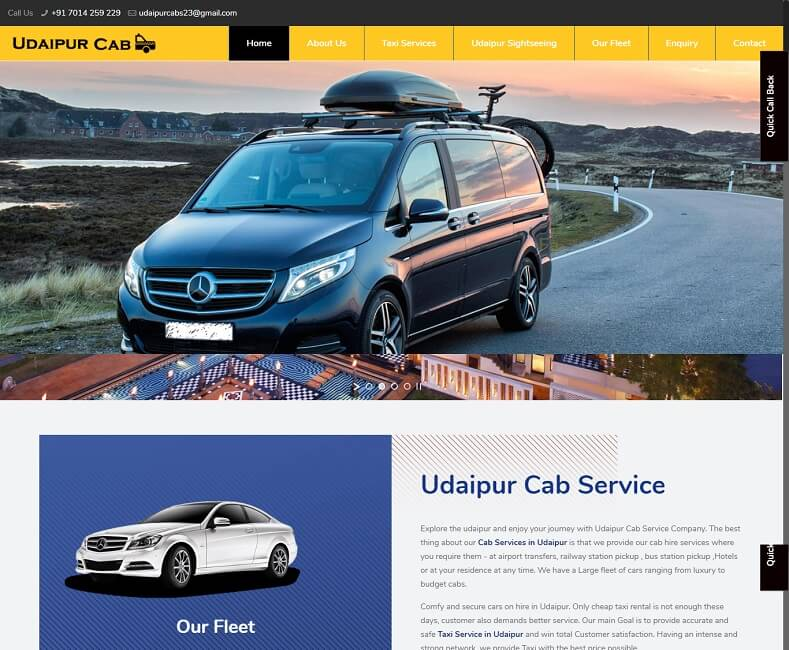 Cab Website Design Company