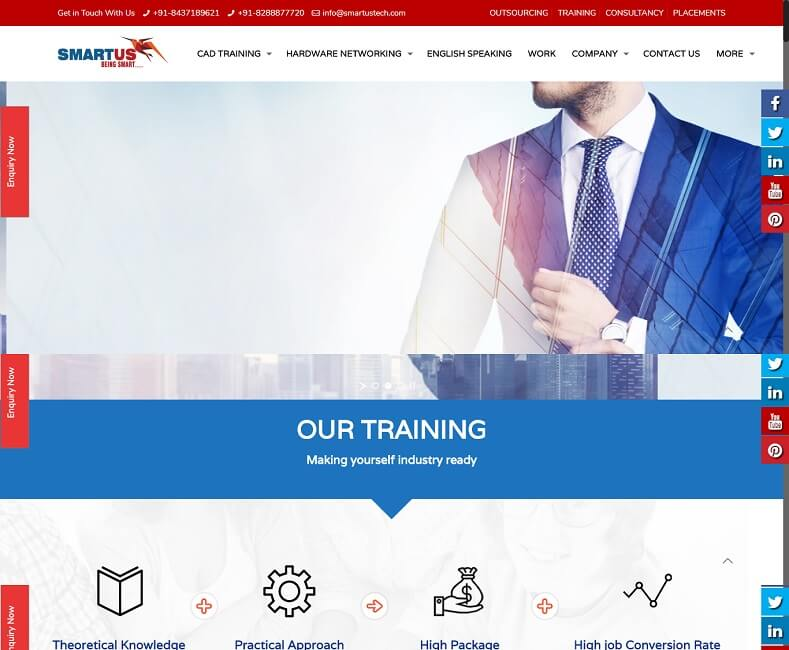Cad Hardware Training Institute Website Design Company