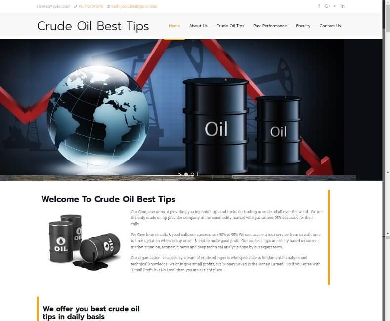Crude Oil Advisory Website Design Company