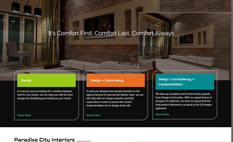 Interior Design Website Design Company