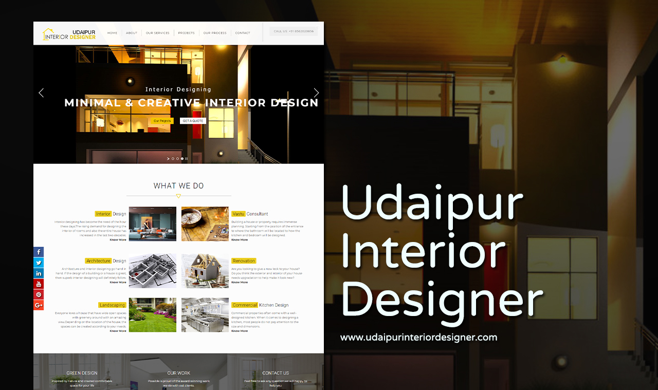 Interior designer website design company udaipur for Interior design company list