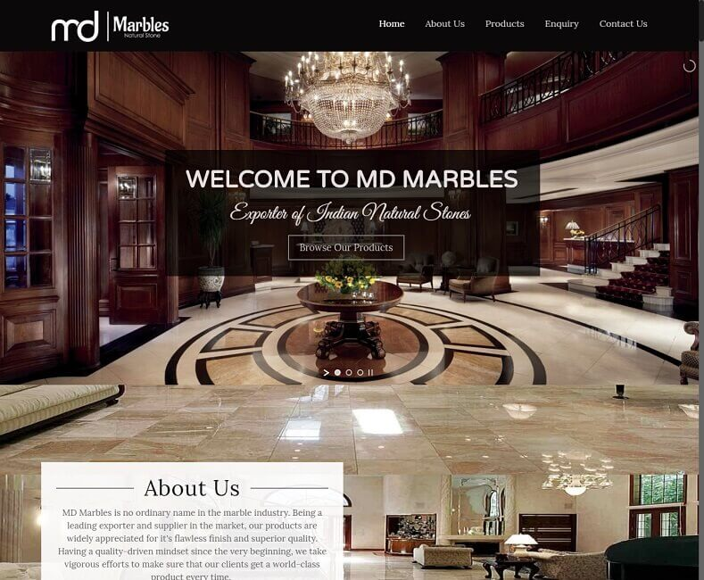 Marble Exporter Website Design Company
