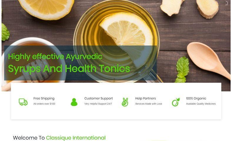 Organic Product Website Design Company