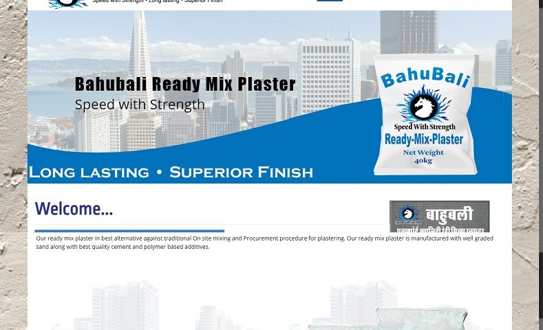 Ready Mix Plaster Website Design Company