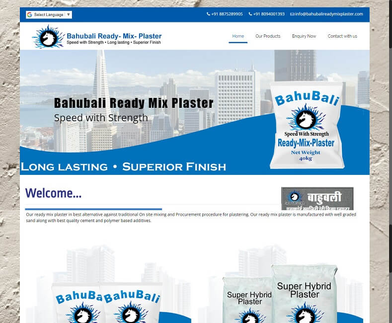 Ready Mix Plaster Website Design Company