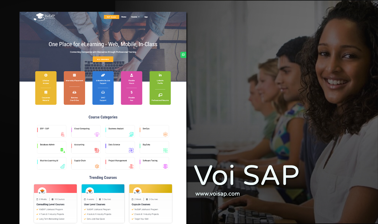 Sap Training Website Design Company