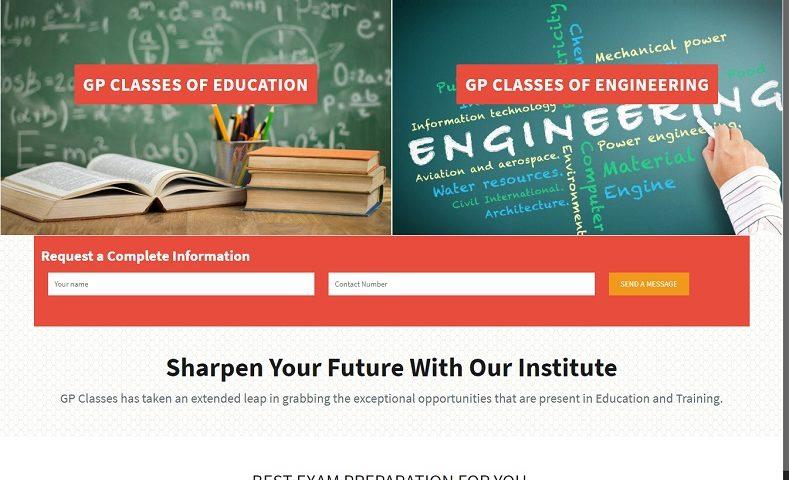 Science Classes Institute Website Design Company