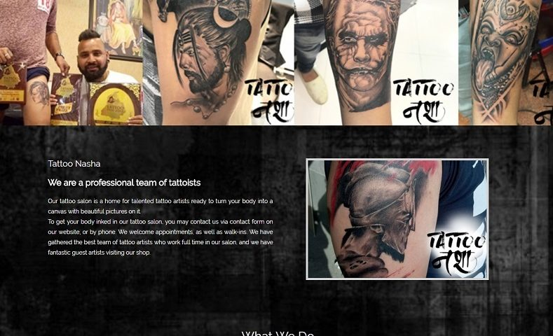 Tattoo Artist Website Design Company