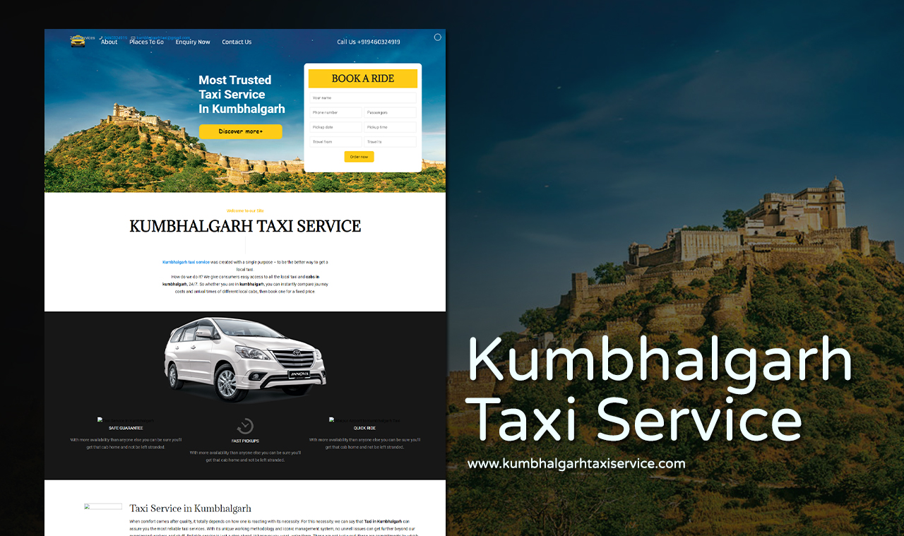 Taxi Booking Website Design Company