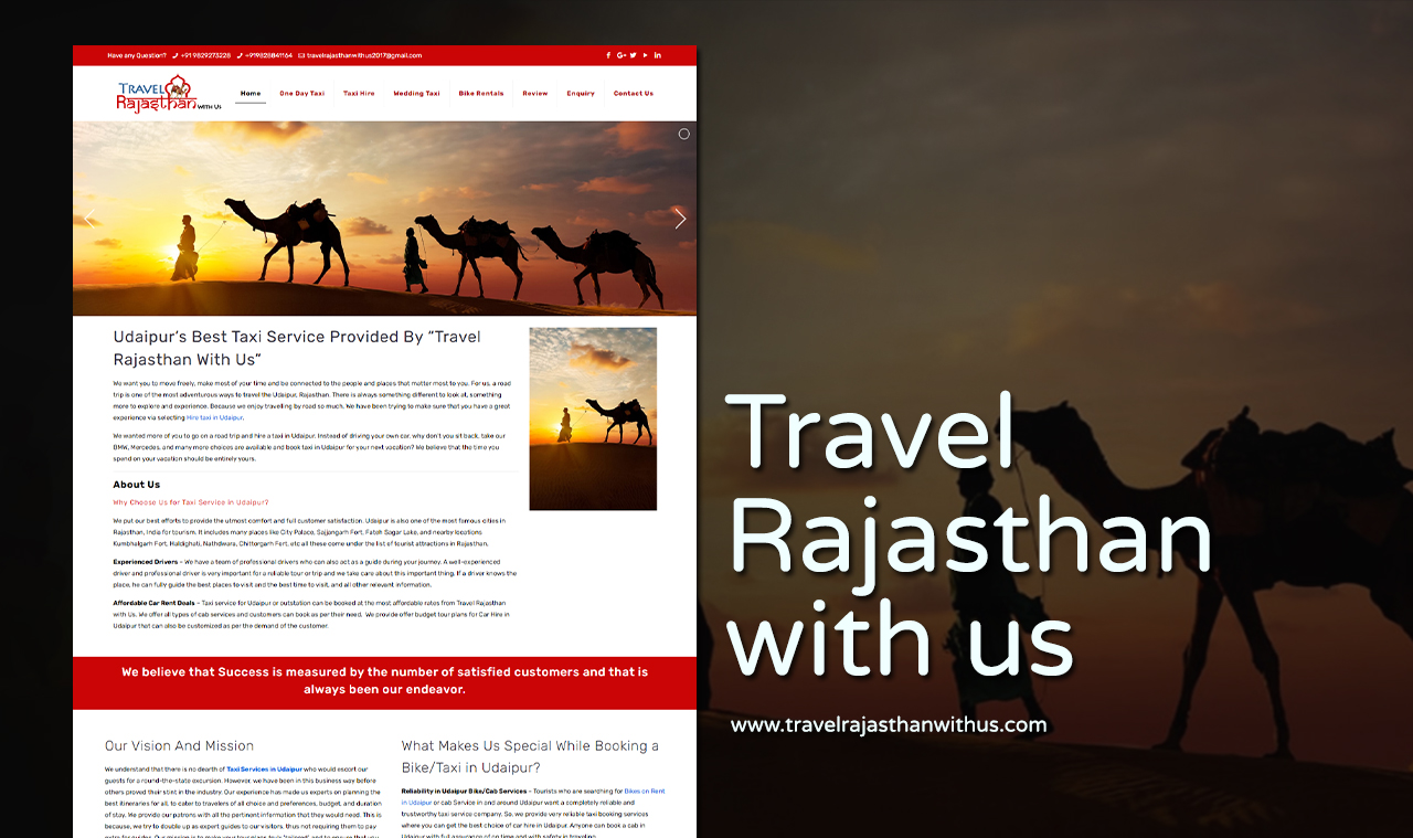 Travel Tour Package Website Design Company
