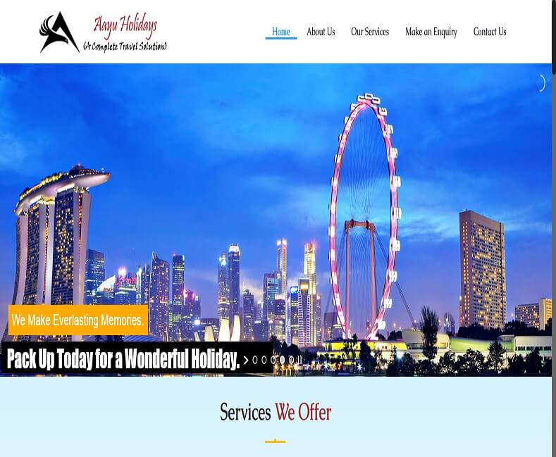 Travel Agency Website Design Company