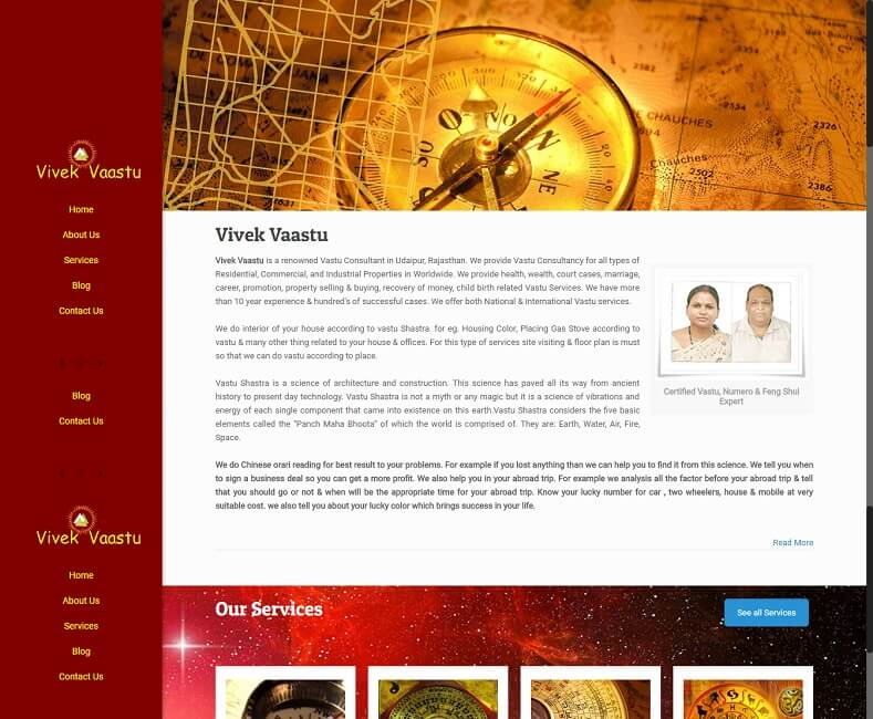 Vaastu Consultant Website Design Company