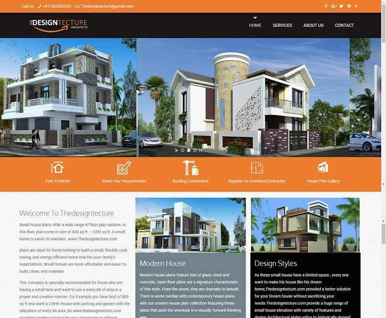 Web Design Company for Architect